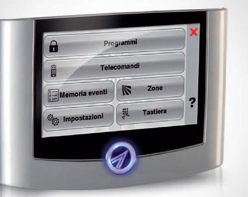 villa impianti tecnoalalrm foto console