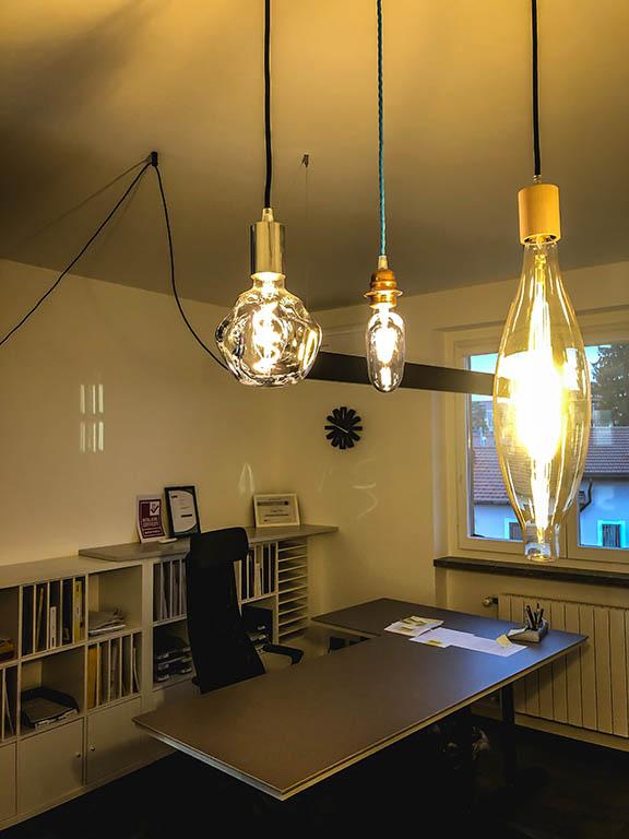 villa impianti illuminazione nuovo ufficio Castiglione Olona VA