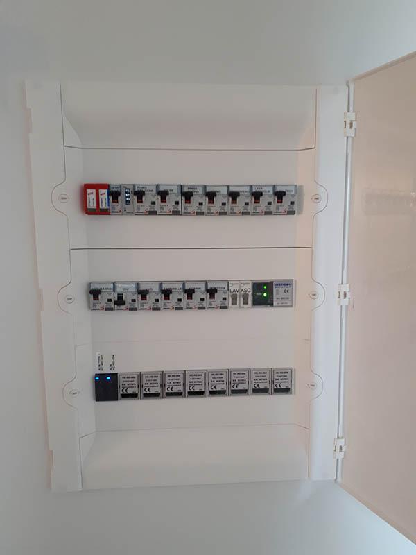 Quadro elettrico installato in una villa a Cassano Magnago Varese