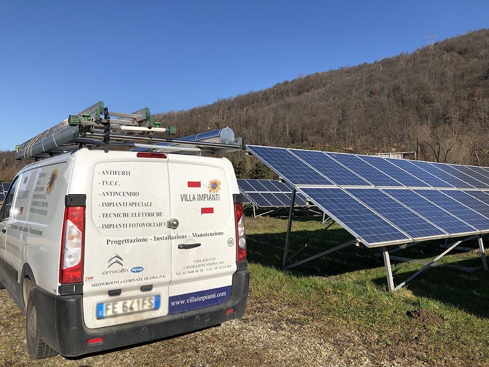 Installazione impianto fotovoltaico a terra a Luino Varese