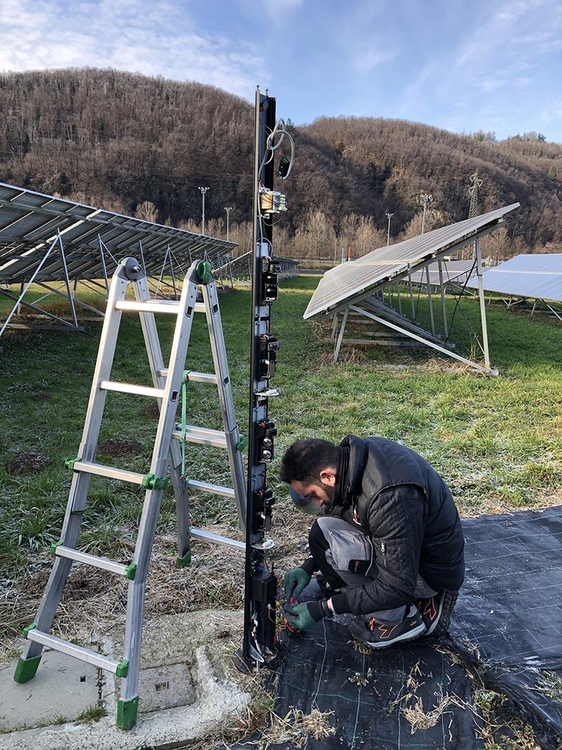 Manutenzione impianto fotovoltaico a terra a Luino Varese
