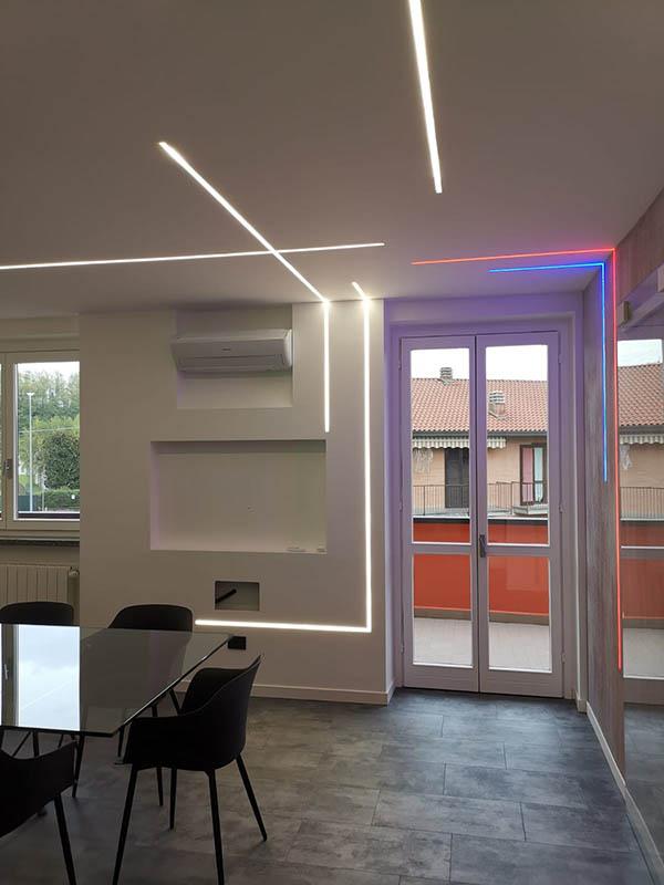 Illuminazione a led nel nostro showroom a Castiglione Olona Varese