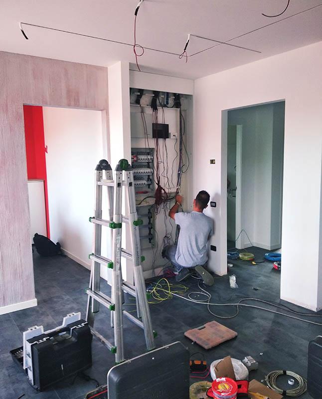 Realizzazione impianto domotica del nostro show room a Castiglione Olona Varese