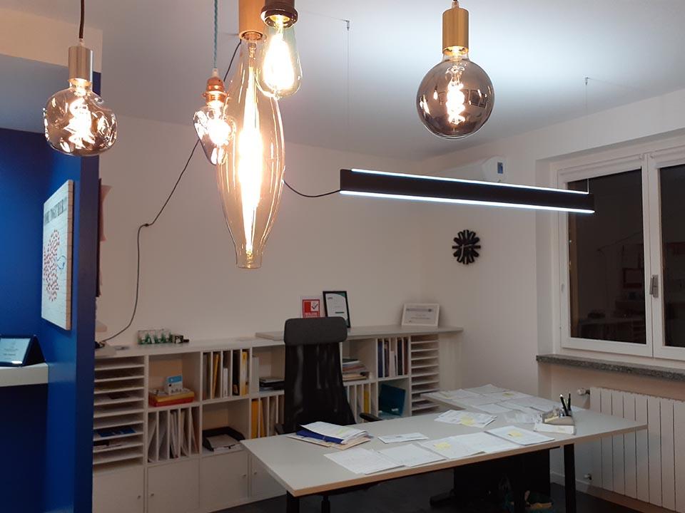 illuminazione ufficio Villa Impianti a Castiglione Olona VA
