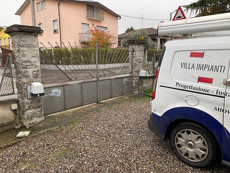 Cancello automatico nuovo Castiglione Olona Varese