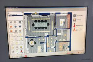 pannello di controllo domotica showroom villa impianti