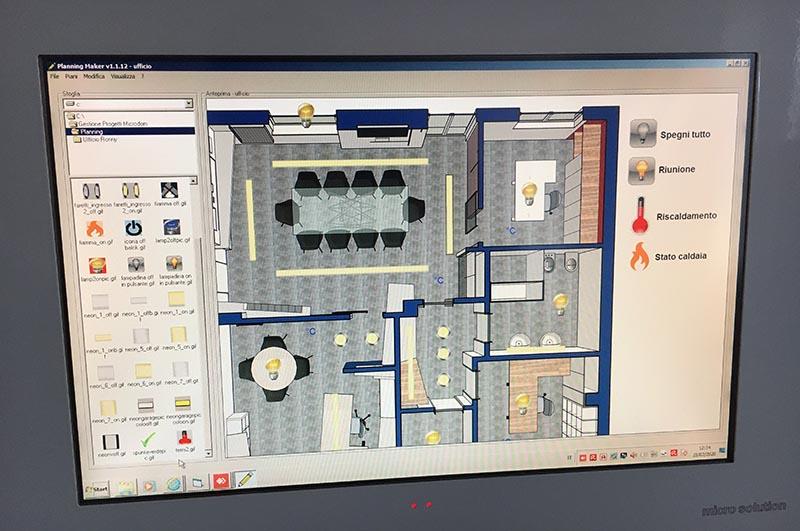 pannello di controllo domotica showroom villa impianti a Castiglione Olona Varese