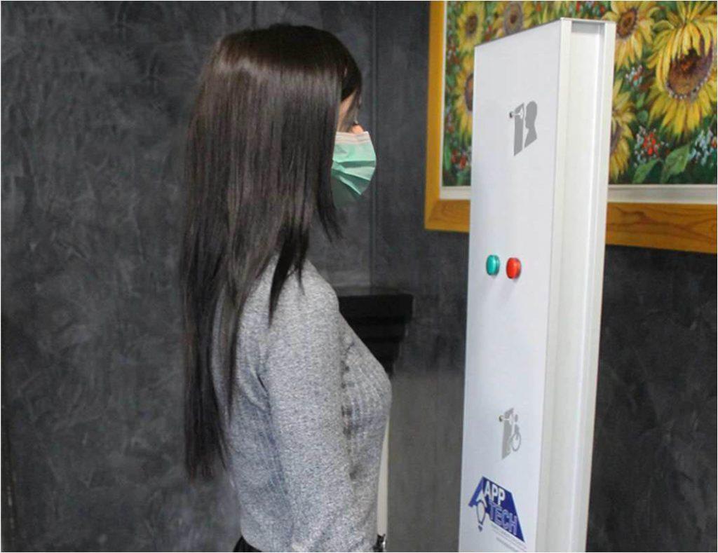 app tech totem rilevazione temperatura controllo accessi
