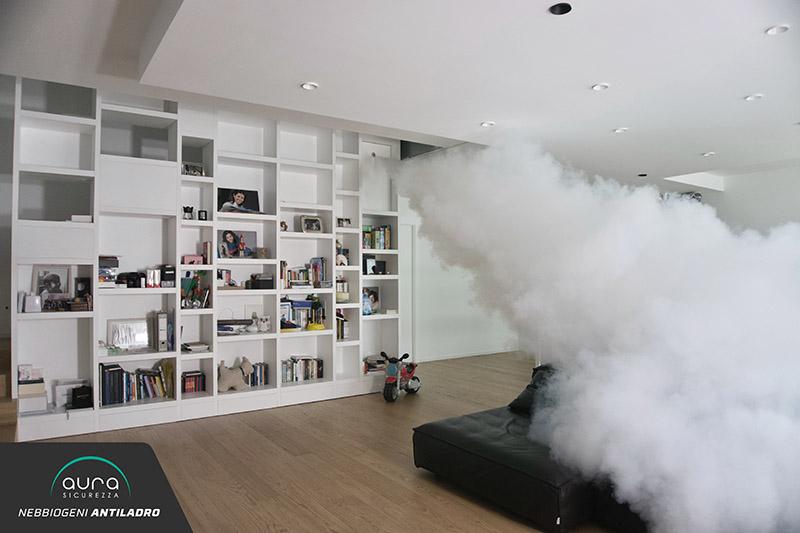 Villa impianti nebbiogeno di sicurezza antiladro per abitazione